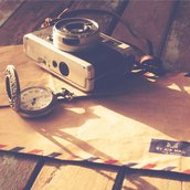 Camera on table Wallpaper